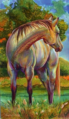 Amazing Art~ Amazing Horse ~ Amazing Play Of Colour And Light~ In Total. . . . Amazingly Pleasurable To The Sight.