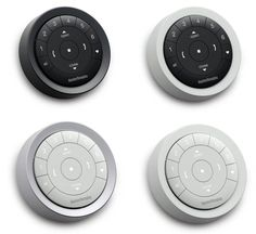 Available in combinations of three colors – Black Matte, White Matte and Nickel Matte, the PowerView™ Surface Remote fits to any wall for visually pleasing, wall-mounted control of Hunter Douglas motorized window treatments.