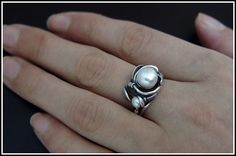 Pearl Ring  High Quality by SilverJewelryShop on Etsy, $17.00
