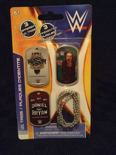 NIP WWE Daniel Bryan Roman Reigns Sheamus 3 I.D. Dog Tags Wrestling 2014 #WWE