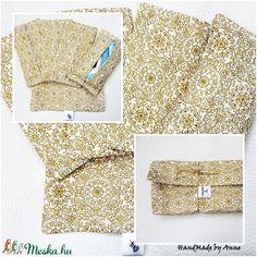 Papírzsebkendő tartó csomag - Fehér arannyal zsákban (annetextil) - Meska.hu Vintage, Vintage Comics