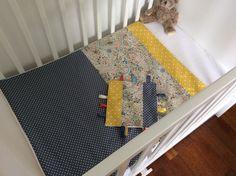 Couverture bébé et Doudou étiquettes en Liberty modèle Adelajda multicolore : Puériculture par luixa-liberty