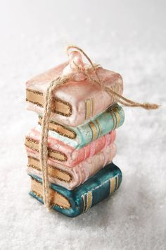 #anthropologie cute Library Ornament
