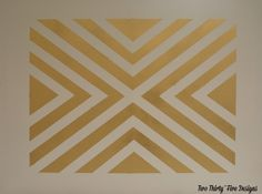 Gold Painted Patterned Canvas with TwoThirtyFiveDesigns.com
