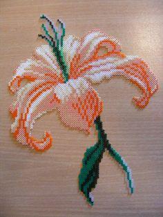 flower hama perler beads