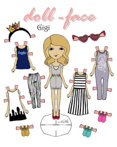 Doll face Anna coloring page DIY Frozen inspired paper doll