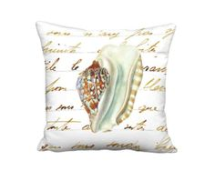 Beachcombers Delight Pillow  Sea Shell No. 8 Pillow  by artanlei