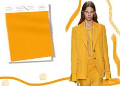 """The Pantone spring 2019 color and London Fashion Week runway shows. According to Pantone, they are selected to induce """"playful professionalism"""" and """". Spring Fashion Trends, Summer Trends, Latest Fashion Trends, Men's Casual Fashion Tips, Fashion Edgy, Fashion Women, Fashion Hats, Fashion 2018, Work Fashion"""