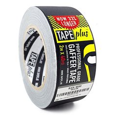 Gaffers Tape - 2 Inch by 40 Yards in Black - Get More! High End Professional Grade - Gaffer Tape is the Perfect Alternative to Duct Tape, Electrical Tape, and other Adhesives: 2 Inch by 40 Yard Gaffers Tape from TapePlus Office Supplies List, Gaffer Tape, Electrical Tape, Wall Treatments, Duct Tape, Adhesive, Fasteners, Matte Black, Competition