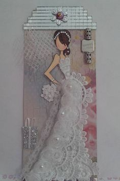 Tasha doll Tag by Eliane Knupp. Prima Paper Dolls, Prima Doll Stamps, Dress Card, Paper Crafts Origami, Sewing Art, Scrapbook Paper, Scrapbooking, Kirigami, Card Tags