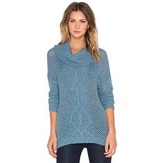 BB Dakota Jack by BB Dakota Samwell Sweater Sweaters & Knits ($74) ❤ liked on Polyvore featuring tops, sweaters, sweaters & knits, blue sweater, blue top, bb dakota sweater, bb dakota top and knit sweater