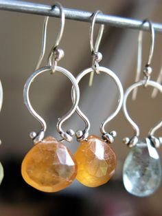 Pin Hinge Earrings - could do this with turquoise teardrops
