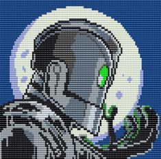 The Iron Giant - 100 columns X 77 rows - Square Grid Pattern by me, Man in the Book Alpha Patterns, Bead Patterns, Cross Stitch Patterns, Crochet Patterns, Stitching Patterns, Perler Bead Art, Perler Beads, Pixel Art Grid, The Iron Giant