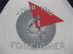 Vintage FOREIGNER 1981 tour SHIRT concert by rainbowgasoline