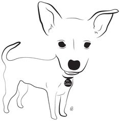 Chihuahua & Jack Russell Terrier -- Charity Pups raises awareness and dollars for a different animal-related non-profit each month through dog illustrations. www.charitypups.com #dog #illustration #cute #adorable #puppy #chihuahua #jackrussellterrier #chihuahuajackrussellterrier
