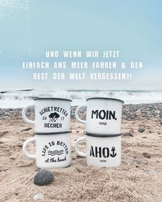 💯🌊👫 Heimatmeer Becher & Mee(h)r>> - Meer und mehr - One Summer, Summer Girls, Short Suit, Am Meer, Good Things, In This Moment, Tableware, Free Spirit, Travel