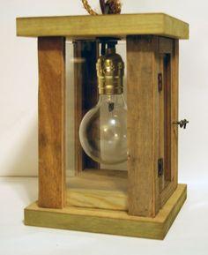Rustic Reclaimed Wood Lantern Handmade by Arbrepila, $70.00