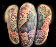 cat shoulder art nouveau