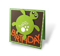 Turtle birthday card...made with the Creative Memories Traveler Cricut Cartridge!