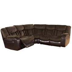 Tafton   Java Double Reclining Two Loveseat Sectional By Signature Design  By Ashley