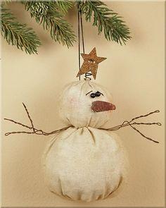 Tiny Christmas Snowman Ornament by kasrin.knackebrot