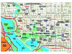 Tourist Map of DC Monuments   Must See, Eat, Do Recommendations for Washington D.C.