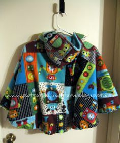 Reversible Car Seat Poncho Tutorial ~ It might be interesting to make this extra long for use as a stroller blanket that doesn't have to be tied onto the stroller and have it be long enough to keep little legs warm..