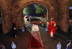 Moroccan red carpet entrance - Hempstead House, Long Island, NY