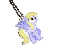 Derpy Hooves Necklace Cute Pony Laser Cut by KitschBitchJewellery, $11.99
