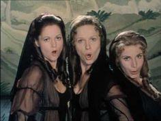 """Mozart: Die Zauberfloete (The Magic Flute). """"Stirb, Ungeheu'r, durch unsre Macht!"""" (Die drei Damen)"""