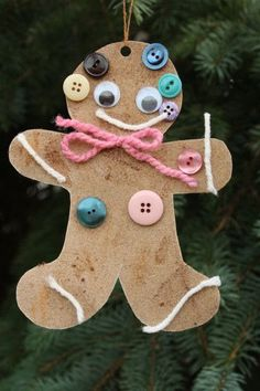 Ginger-Scented Sandpaper Ornaments - what a great sensory experience and craft! - Happy Hooligans
