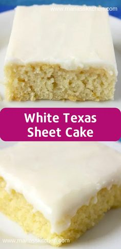 Super Moist White Texas Sheet Cake Recipe - Maria s Kitchen White Sheet Cakes, White Texas Sheet Cake, Vanilla Sheet Cakes, Moist Vanilla Cake, Texas Sheet Cakes, Moist Banana Cake Recipe, Banana Sheet Cakes, Texas Cake, Moist White Cake