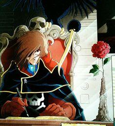 Space Pirate Captain Harlock, Black Sails, Godzilla, Art Reference, Pirates, Pokemon, Anime, Universe, Manga
