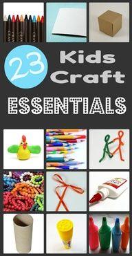 23 kids craft essentials
