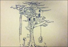 Treehouse in 2-Point Perspective