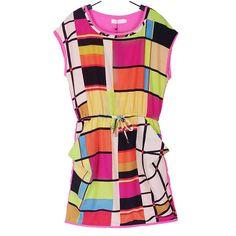 Geometric colorful summer dress www.meunique.gr