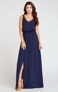 Kendall Maxi Dress ~ Rich Navy Crisp | Show Me Your MuMu
