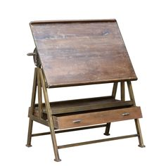 Architect's drafting table / Vintage retail display from Urban Vintage by Andy Thornton Vintage Drafting Table, Vintage Table, Drafting Tables, Industrial Furniture, Vintage Industrial, Home Furniture, Antique Furniture, Architect Table, Rockett St George