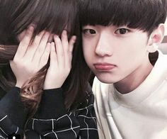 couple / korean / selca