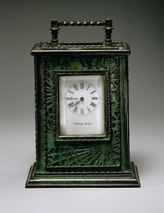 Clock by Louis Comfort Tiffany - c1905-20 - glass and bronze