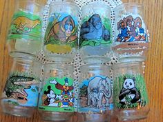 Vintage Welch's Juice Glasses QTY of 8 Zoo by LeftoverStuff
