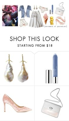"""Paradis"" by tasteofbliss ❤ liked on Polyvore featuring undrest., Gabriella, Clinique, Jimmy Choo and Christian Dior"