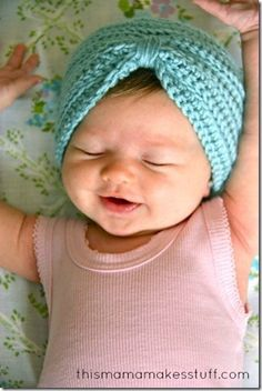 Sew, Cook, Laugh and Live: Newborn baby turban beanie {free ...