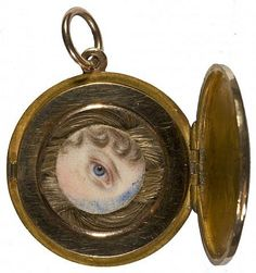The Eye of Princess Charlotte of Wales, 1796 - 1817 by Charlotte Jones, National Galleries of Scotland. Victorian Jewelry, Antique Jewelry, Vintage Jewelry, Jane Austen, Lovers Eyes, Miniature Portraits, Mourning Jewelry, Eye Jewelry, Jewlery