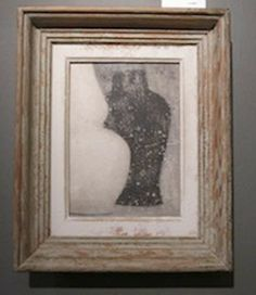 Contemporary English painting in a vintage frame by artist Peter Woodward. www.balsamoantiques.com