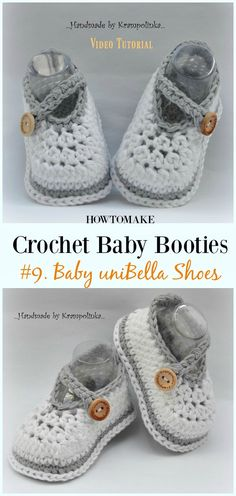 Crochet Baby uniBella Bootie Shoes Free Pattern - Baby #Booties; Free #Crochet; Patterns