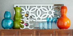 Ideas for Decorating Above Kitchen Cabinets ǀ Pier 1 Imports. --I'm a huge fan decorating above cabinet space. Its always changing for the seasons.   Cute ideas.