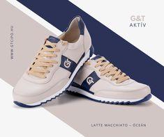 G&T Aktív Latte Macchiato – Óceán bőr sportcipő  #gtcipo #gtcipő #azengtcipom #almaidcipoje #handmade #madeinhungary #sneakers Latte Macchiato, Aktiv, Sneakers, Shoes, Fashion, Tennis, Moda, Slippers, Zapatos