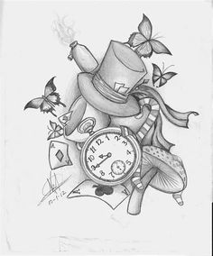 Image result for Alice in Wonderland Caterpillar Sketch