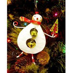 Brand New Jingle Bell Snowman Holding Green Tree Christmas Ornament...